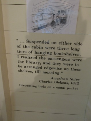 Charles Dickens' observation on traveling the canal.