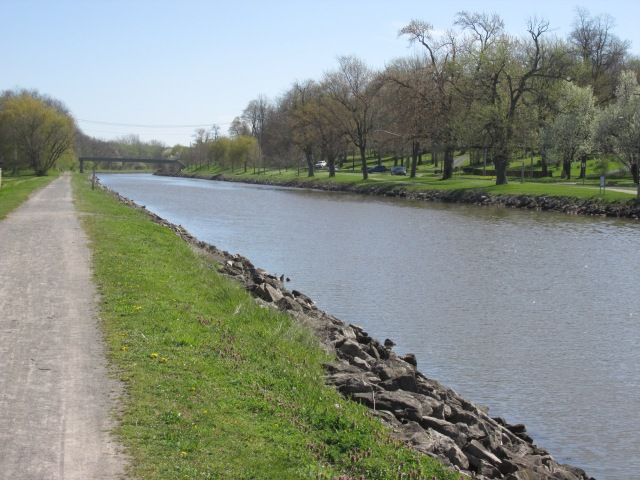 Iconic towpath view